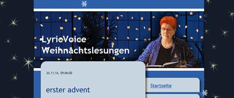 lyricvoice weihnachtslesungen